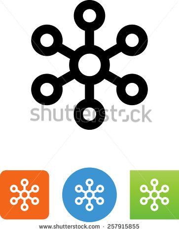 Network Hub Icon Clip Art