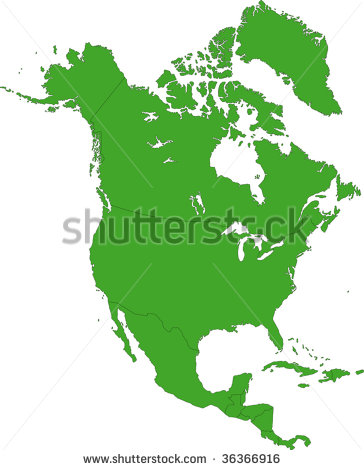 North America Countries and Capitals Map