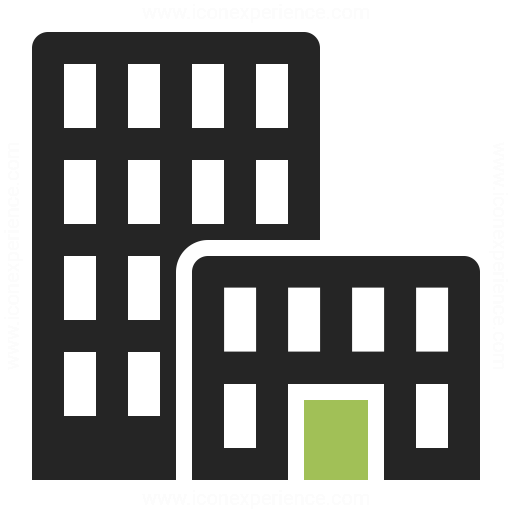 18 HQ Office Building Icon Images