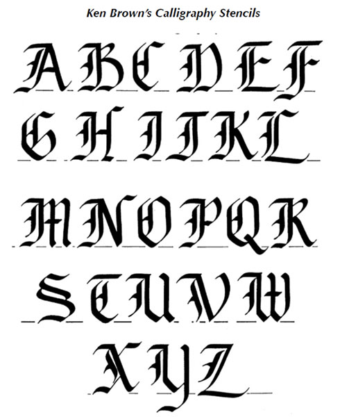 16 Calligraphy Alphabet Template Images