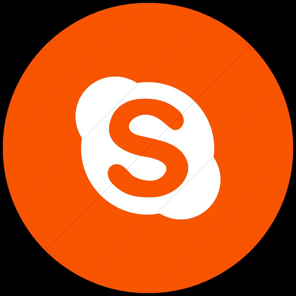 Orange Social Media Icons Circle