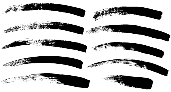 7 Paint Brush Strokes Vector Images