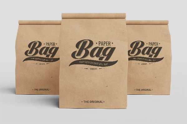 coffee bag design template molde interessante do saco do presente