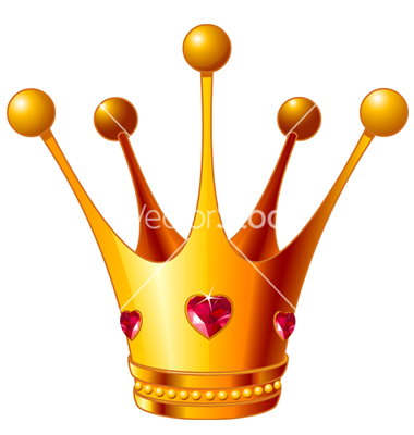 17 Little Princess Crown Vector PSD Images