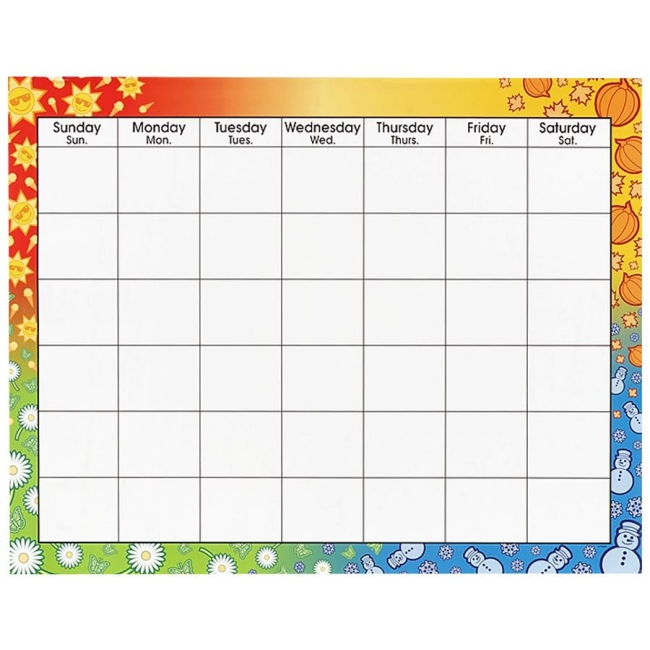 Classroom Calendar Printable : Blank activity calendar template images printable