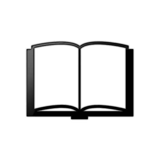 7 Black And White Book Icon Images