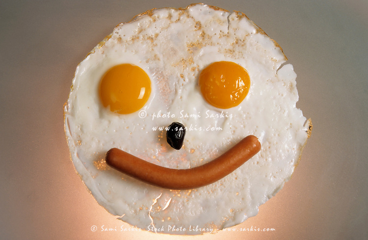 Sausage and Eggs Smiley-Face