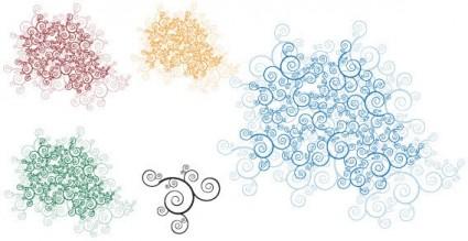 Snowflake Swirl Clip Art Free
