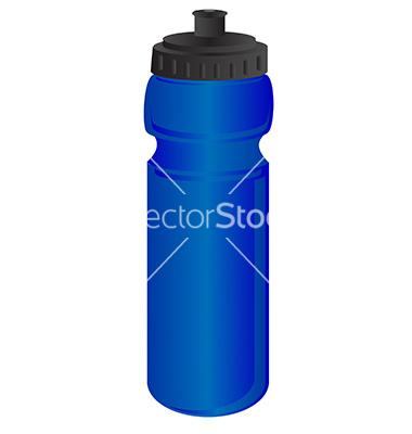 Sports Water Bottle Vector