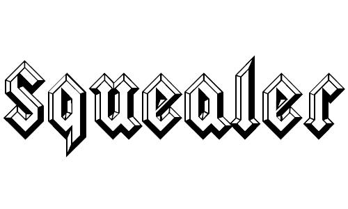 Squealer Embossed Font