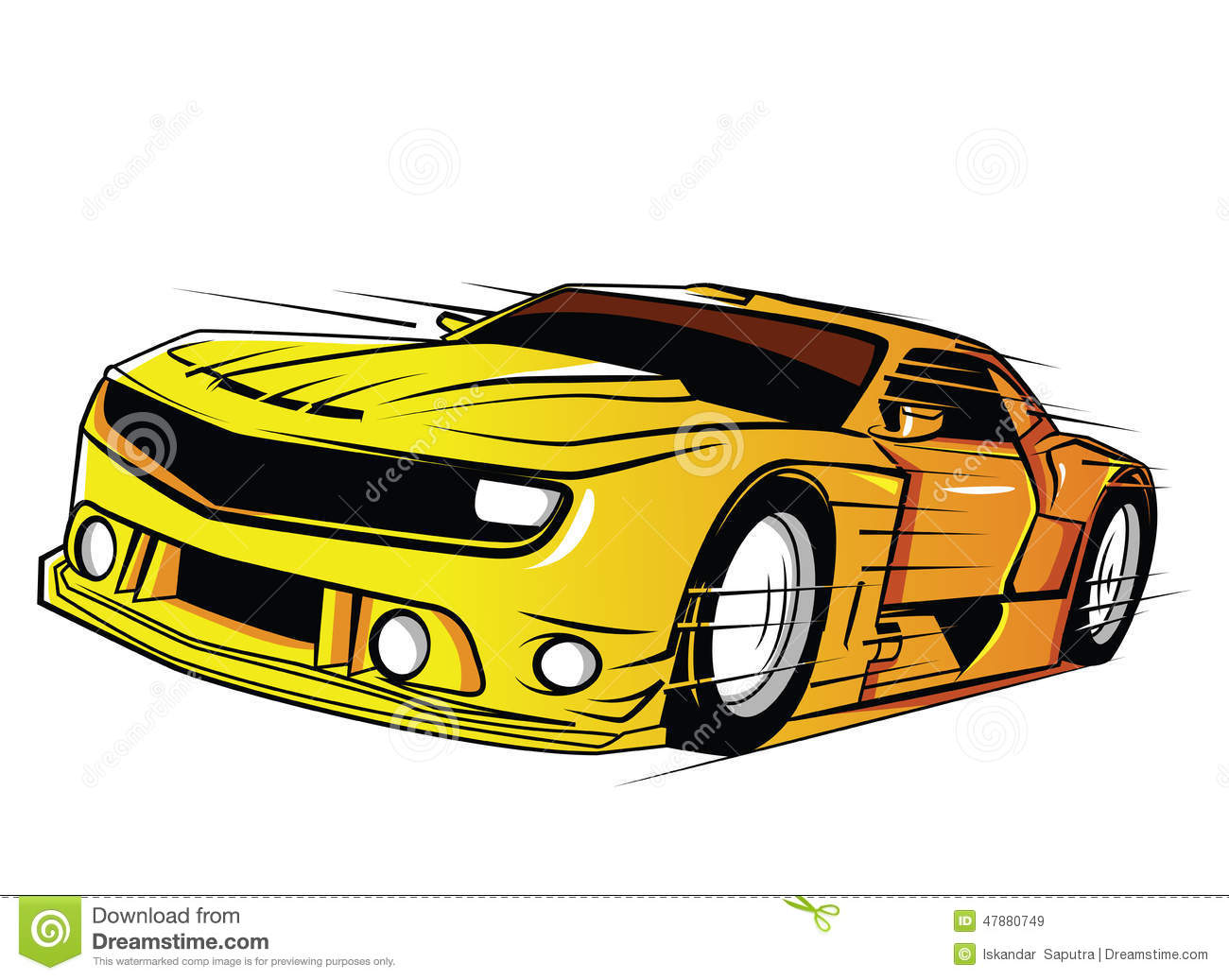 Stock Illustration Car Design