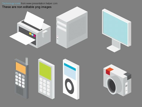 13 Technology Icons For PowerPoint Images