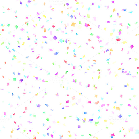 15 Confetti Overlay PSD Images