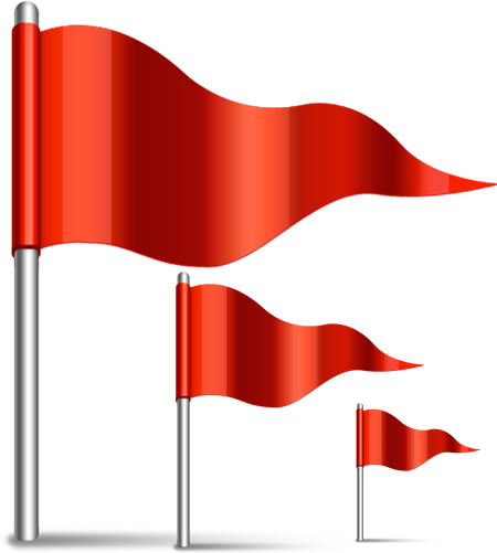 14 Flag Icon PSD Images - Red-Flag Icon, Transparent Waving Flag and