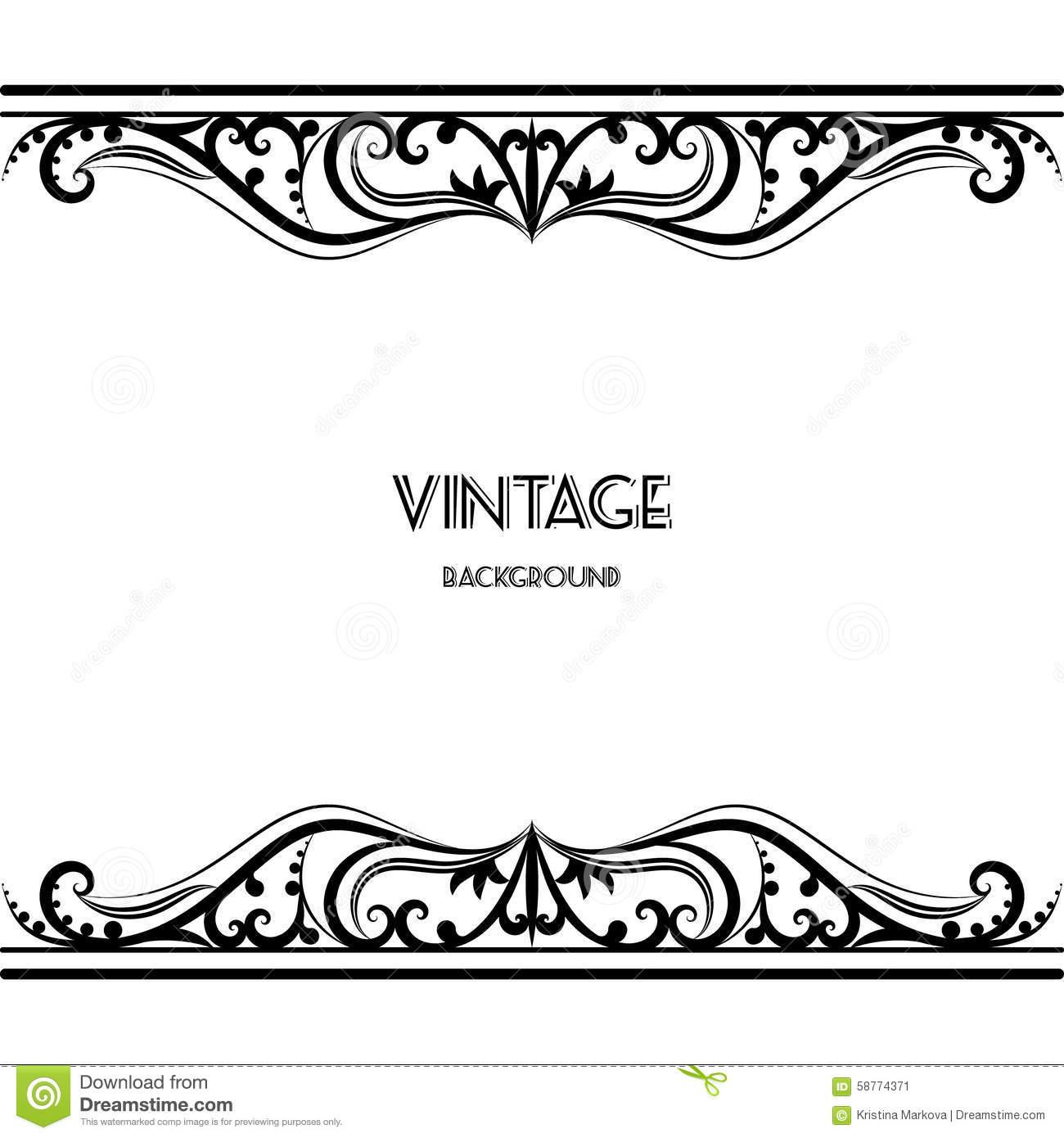 16 black vintage border designs images vintage border