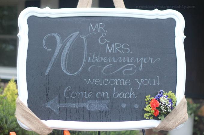 Welcome Wedding Chalkboard Font