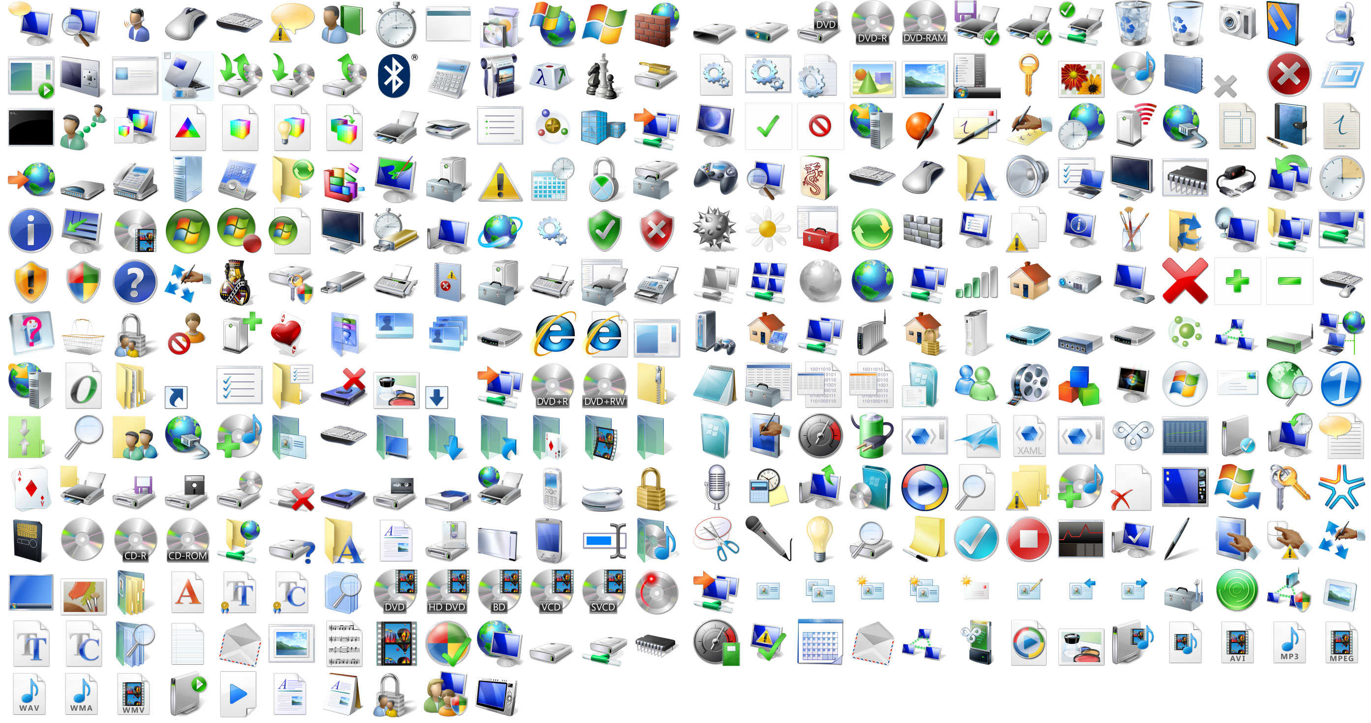12 Vista Icons For Windows 7 Images