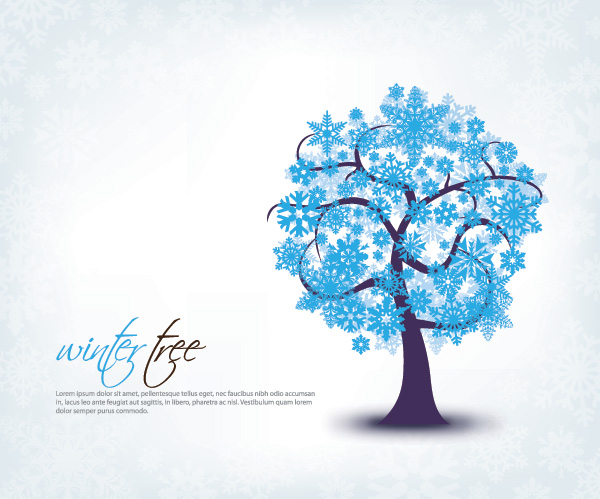 20 Winter Tree Vector Images