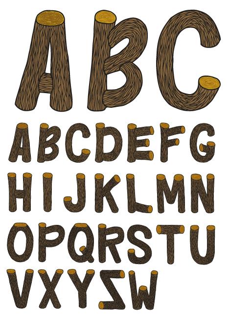 10 Wood Log Font Free Download Images