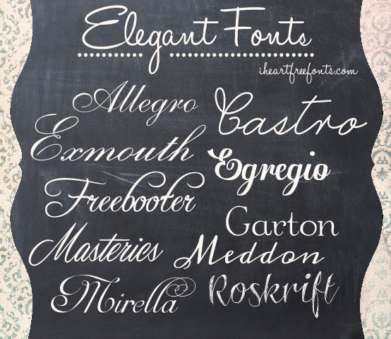 13 M Elegant Font Images Elegant Fonts 10 Free Elegant