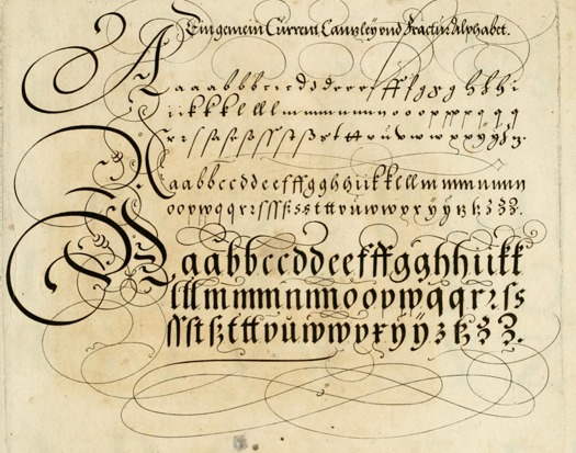 15 English 17th Century Handwriting Fonts Images
