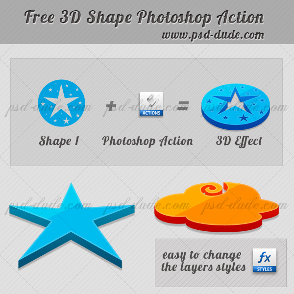 3D Action Photoshop Free Download