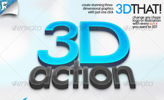3D Text Action Photoshop Download