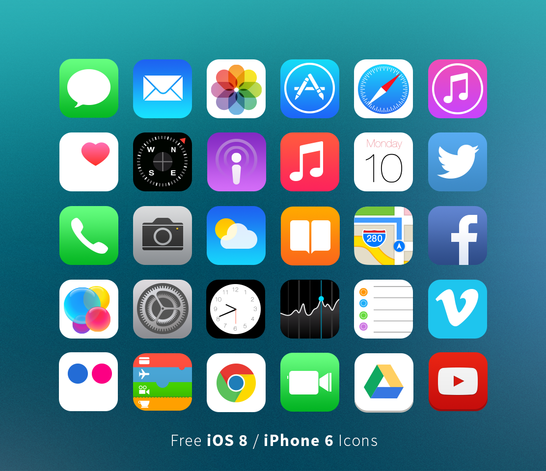 13 iphone 6 icons images 6 iphone app icons 6 iphone for Iphone picture apps free