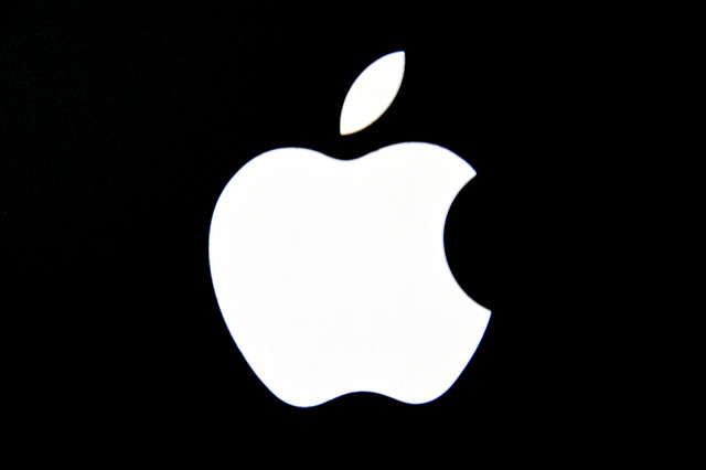 Black and White Apple Logo