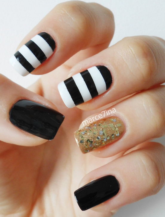 18 White And Gold Nail Designs Images White And Gold Nail Design