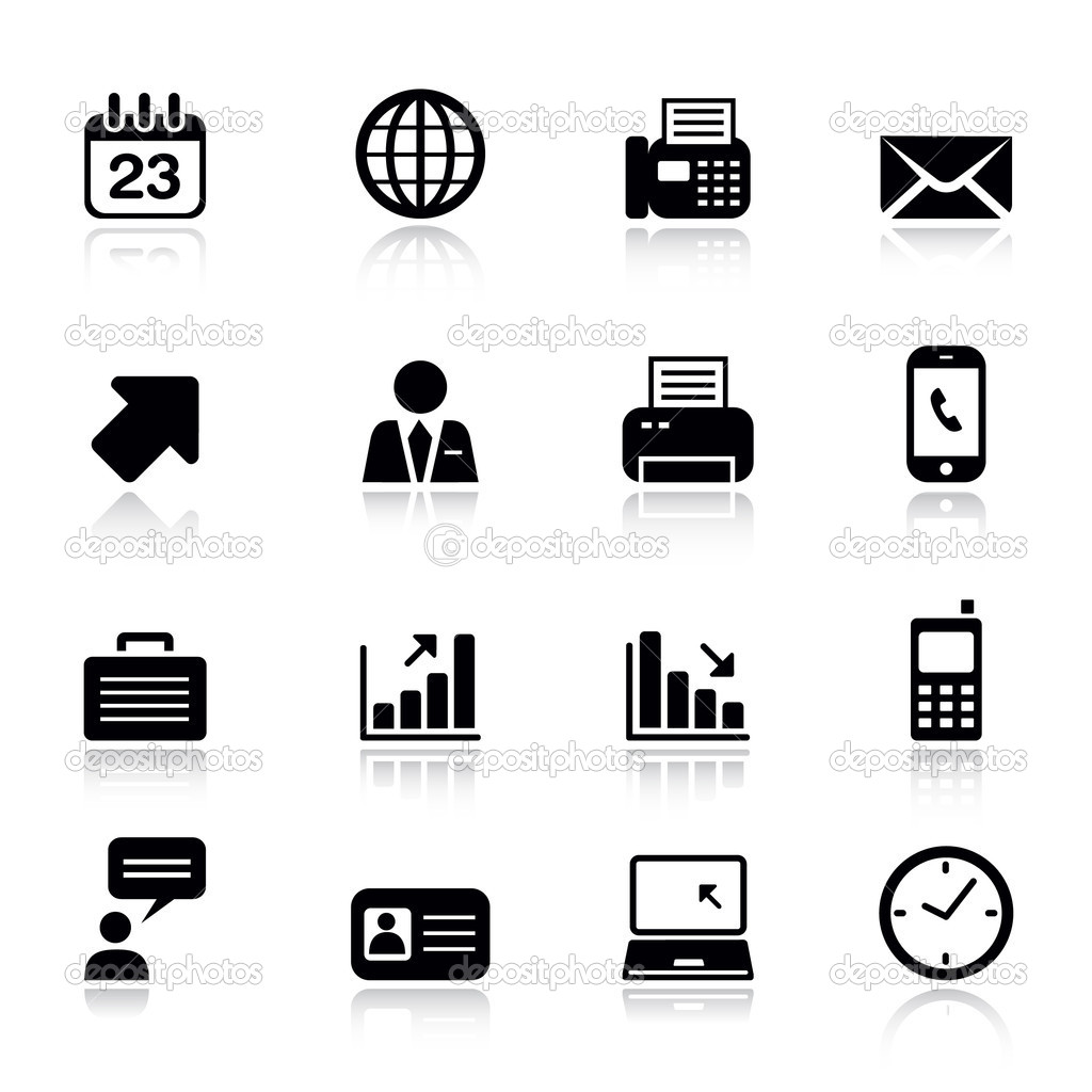 Phone business card icons and symbols for Business card symbols