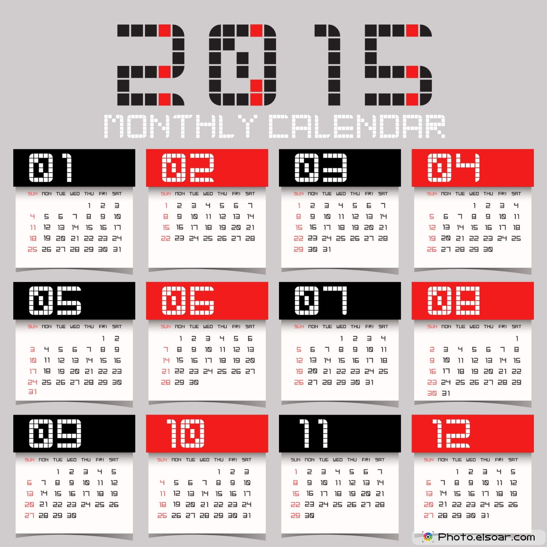 Calendar 2015 Free Download