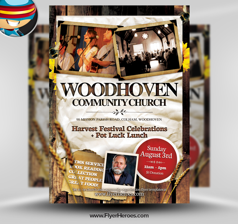 Church Service Flyer Template Free