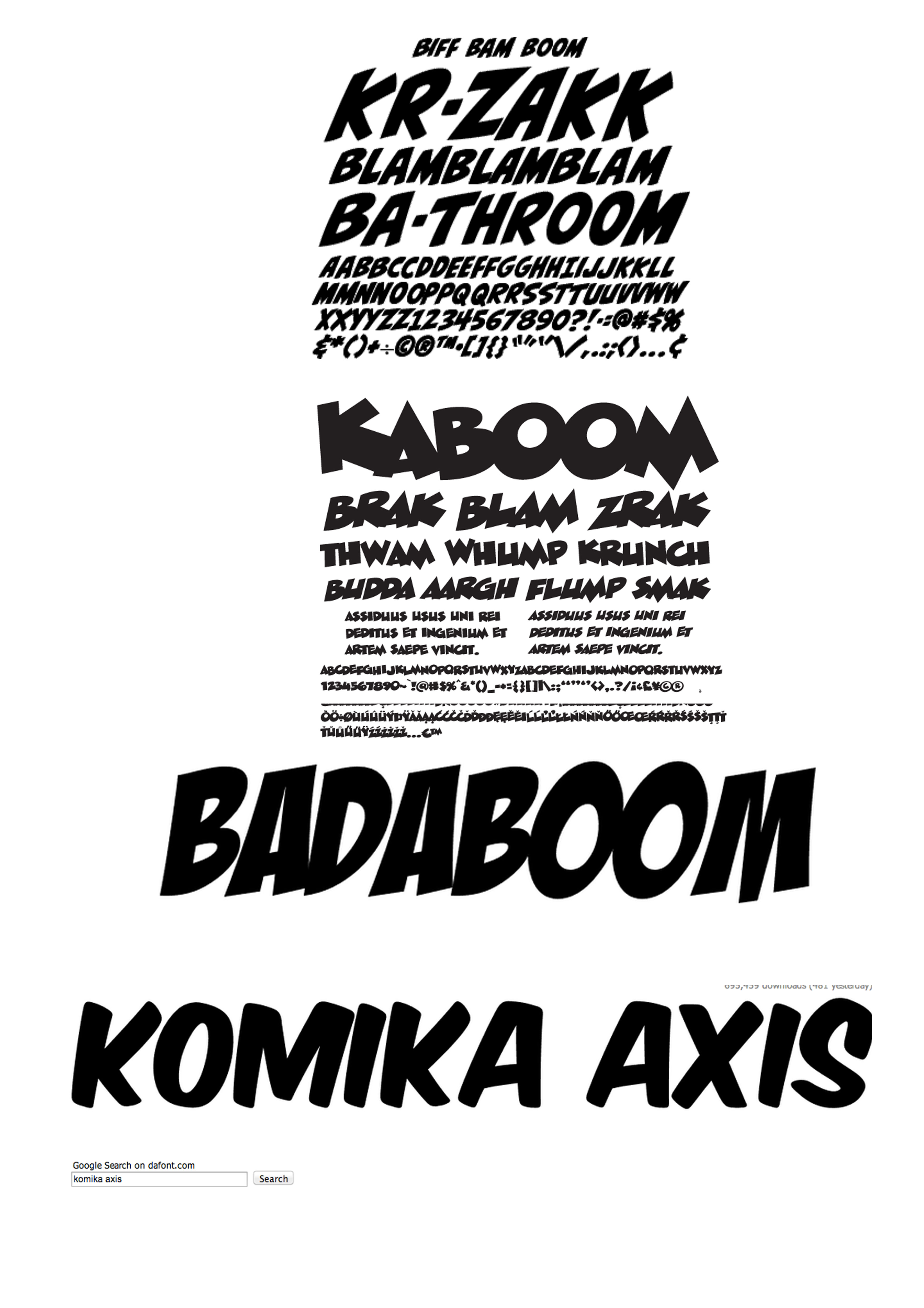 Comic Book Font Styles