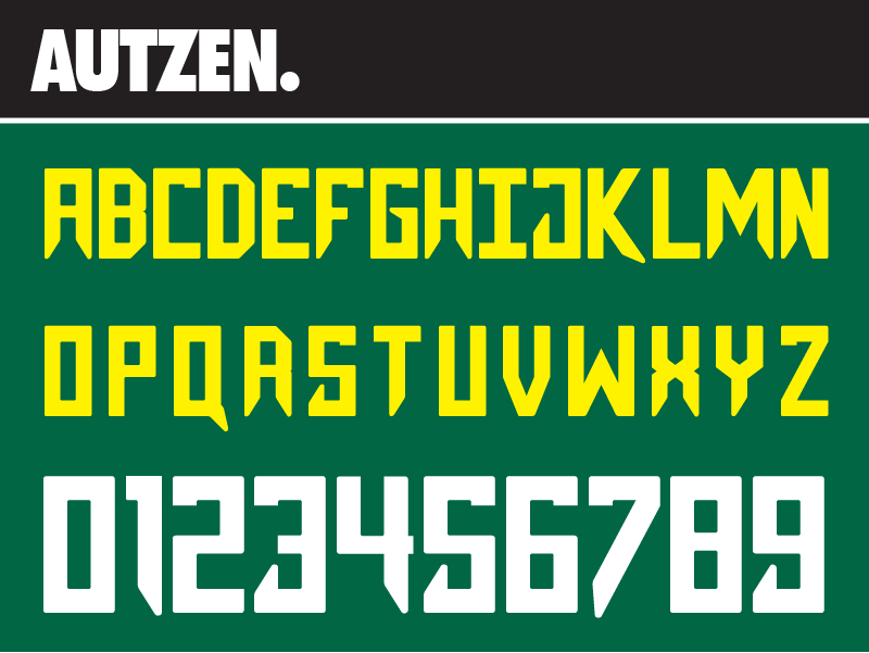 oregon football jersey number font
