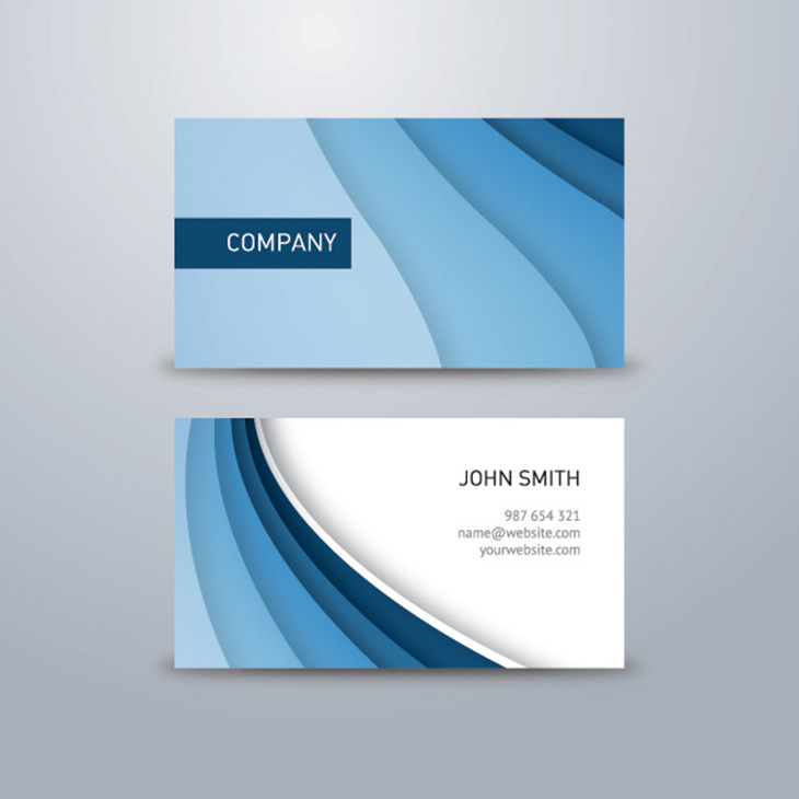 Corporate Business Card Blue