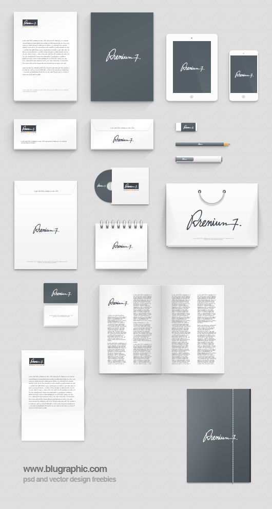 9 Corporate Identity PSD Templates Images