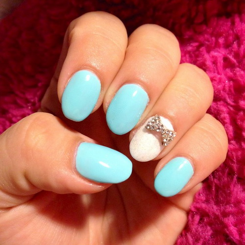 19 Cute Blue Nail Designs Images