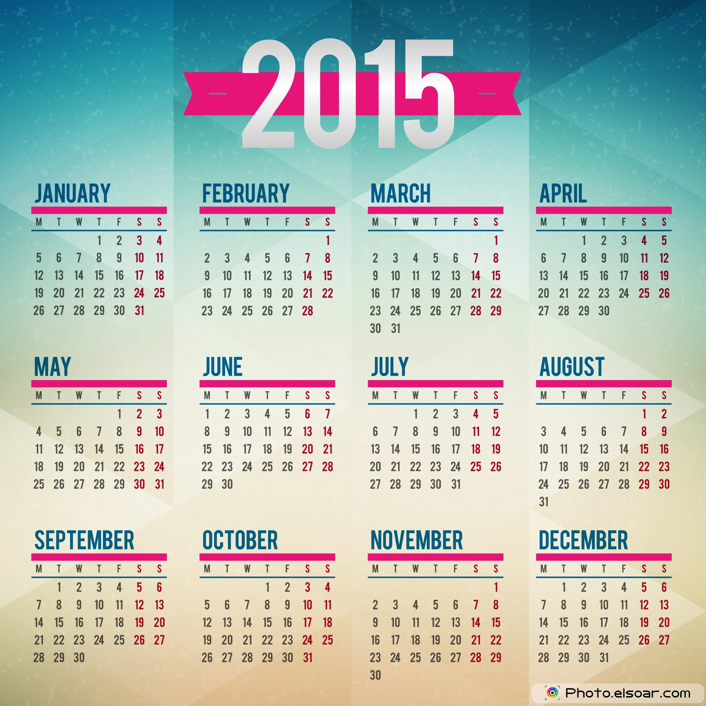 15 2015 Calendar Printable Design Images