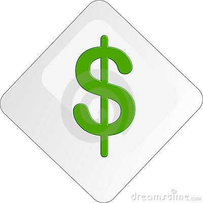 10 Green Dollar Icon Button Images