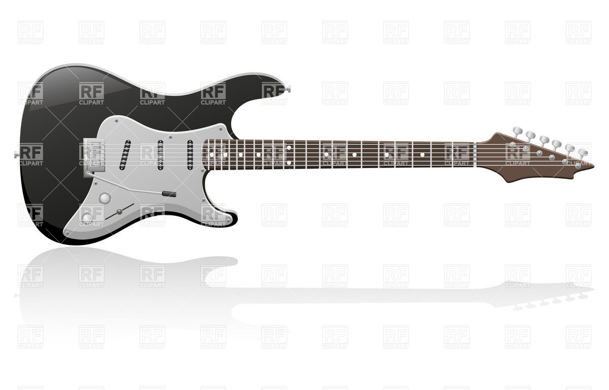 17 Black Guitar Vector Images