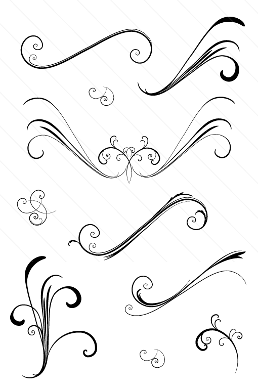 10 Simple Vector Swirls Images