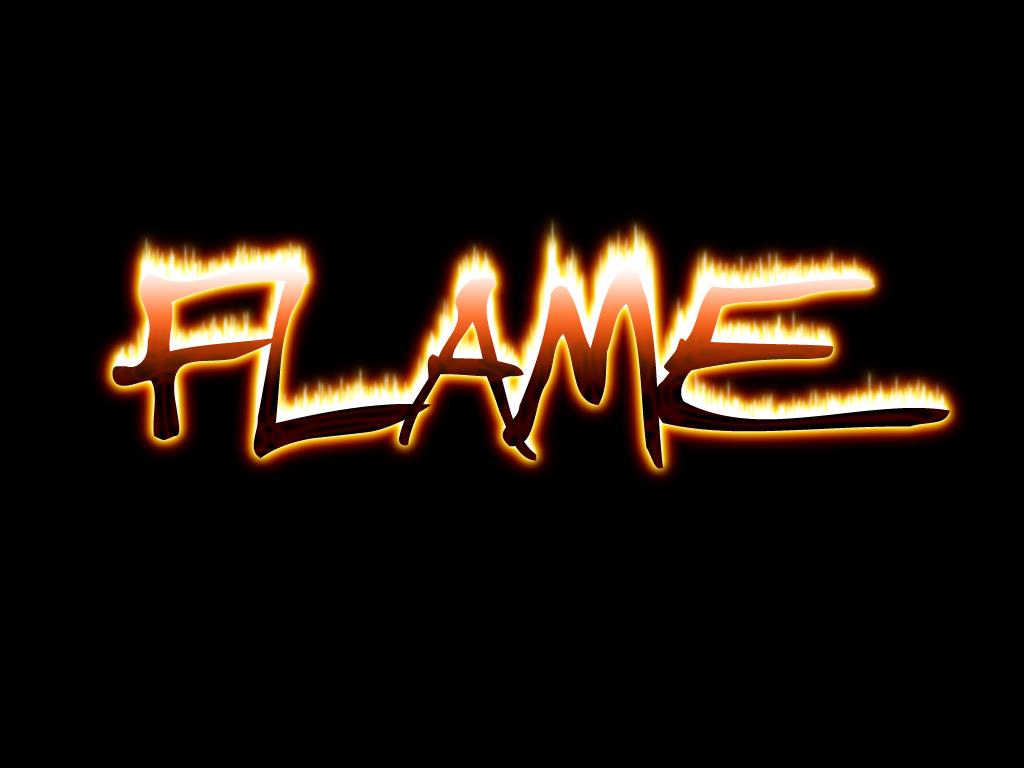Fire Text Font