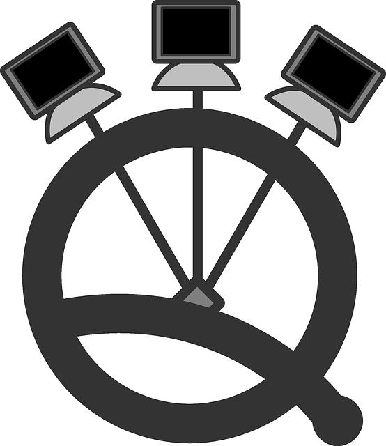 Flat Computer Network Clip Art