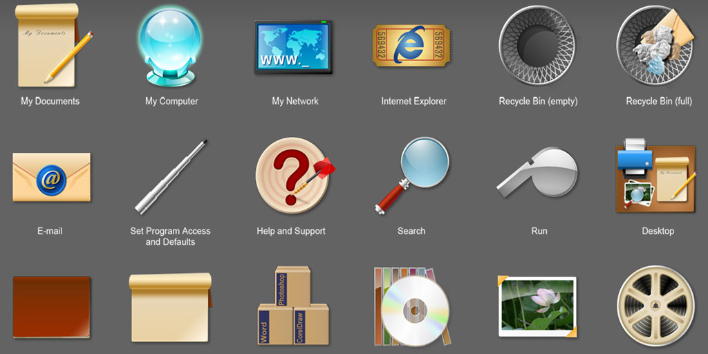 Flat Icon Sets Windows System