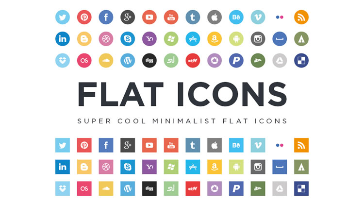 17 Flat Icon System Images