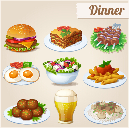 14 Vector Dinner Icon Images