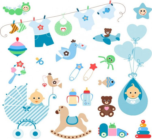 14 Free Baby Clip Art Vector Images
