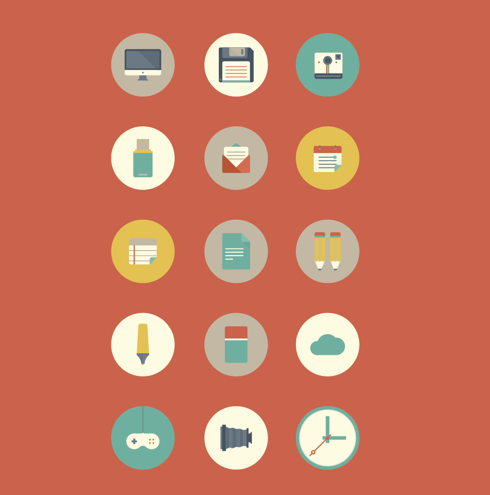 18 Free Flat Icon Sets Images - Free Round Icons, Free ... Gallery Icon Flat
