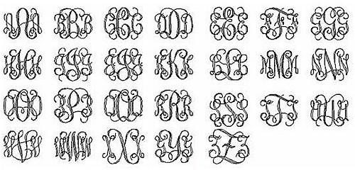 15 vine monogram font free download images